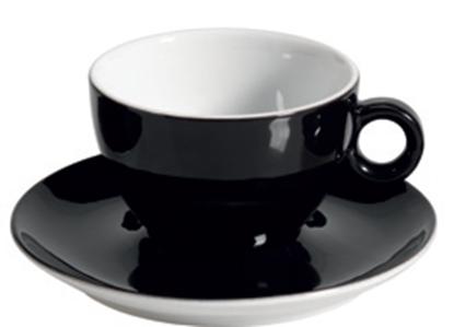 Εικόνα της Πορσελάνινη Κούπα Cappuccino 21cl σε Μαύρο Χρώμα