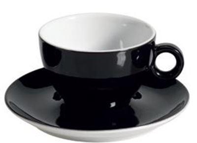 Πορσελάνινη Κούπα Διπλού Cappuccino 31.5cl σε Μαύρο Χρώμα