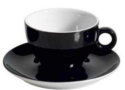 Εικόνα της Πορσελάνινη Κούπα Διπλού Cappuccino 31.5cl σε Μαύρο Χρώμα