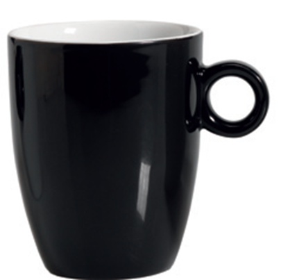 Εικόνα της Πορσελάνινη Κούπα 37cl σε Μαύρο Χρώμα
