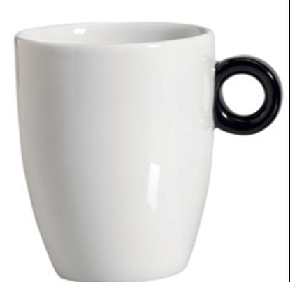 Εικόνα της Πορσελάνινη Κούπα 37cl σε Άσπρο Χρώμα με Μαύρη λαβή