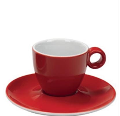 Εικόνα της Πορσελάνινη Κούπα Espresso 10cl σε Κόκκινο Χρώμα