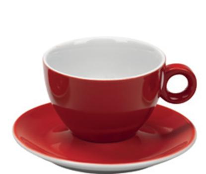 Εικόνα της Πορσελάνινη Κούπα Cappuccino 21cl σε Κόκκινο Χρώμα
