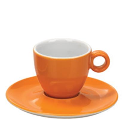 Εικόνα της Πορσελάνινη Κούπα Espresso 10cl σε Πορτοκαλί Χρώμα