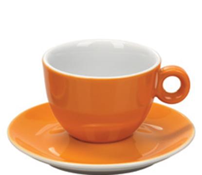 Εικόνα της Πορσελάνινη Κούπα Cappuccino 21cl σε Πορτοκαλί Χρώμα