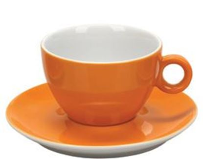 Εικόνα της Πορσελάνινη Κούπα Διπλού Cappuccino 31.5cl σε Πορτοκαλί Χρώμα