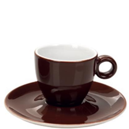 Εικόνα της Πορσελάνινη Κούπα Espresso 10cl σε Καφέ Χρώμα