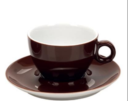 Εικόνα της Πορσελάνινη Κούπα Cappuccino 21cl σε Καφέ Χρώμα