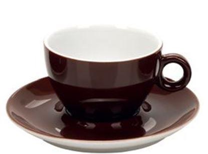 Εικόνα της Πορσελάνινη Κούπα Διπλού Cappuccino 31.5cl σε Καφέ Χρώμα