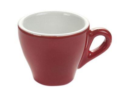 Εικόνα της Πορσελάνινη κούπα cappuccino Κόκκινο χρώμα