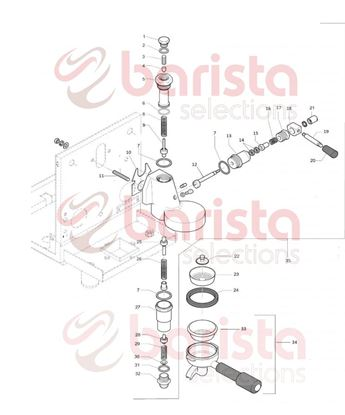 Εικόνα της Rocket R58 Group Spare Parts Group handle (See Image Item 20)