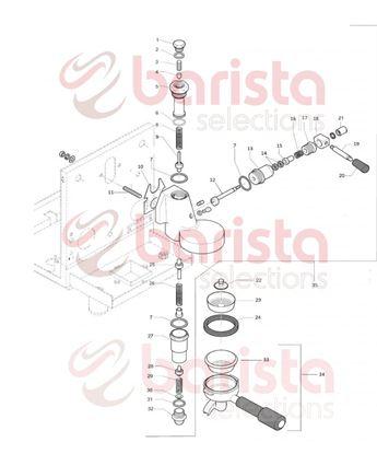 Εικόνα της Rocket R58 Group Spare Parts Shower (See Image Item 23)