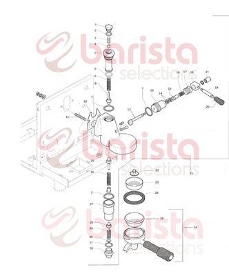 Rocket R58 Group Spare Parts 7 gr filter basket (See Image Item 33)