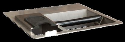 Picture of Built-in Knock Box made from Stainless Steel with tamper station Ctc