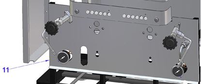 Picture of Vibiemme Replica 2 Group 2 Boiler Pid Bodywork Front Panel For Replica Electr. - Higher Group