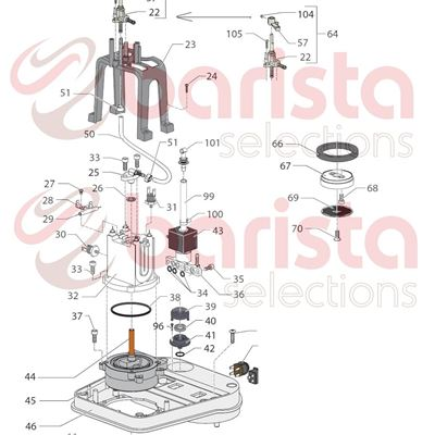 Picture of Gaggia New Baby Spare Parts 4x4 Burn. Screw (see Image Item 104)