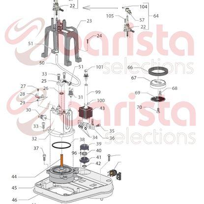 Εικόνα της Gaggia New Baby Spare Parts 6x12 S.s. Screw (see Image Item 68)