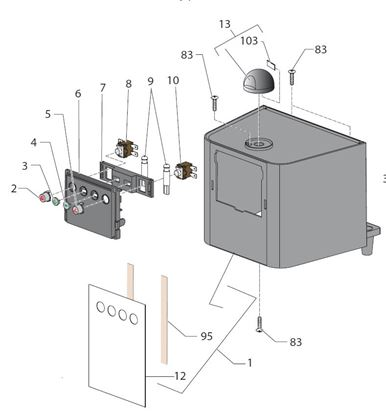 Picture of Gaggia New Baby Spare Parts Brand Gaggia H.12 (see Image Item 12)