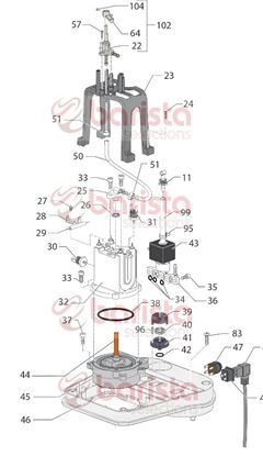 Picture of Gaggia New Baby Class Spare Parts Bracket For Thermofuse (See Image Item 28)