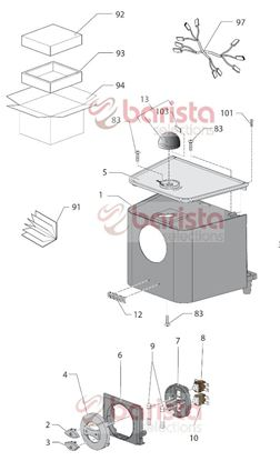 Picture of Gaggia New Baby Class Spare Parts External Box New Baby06/espresso06 (See Image Item 94)
