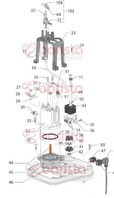 Gaggia New Baby Class Spare Parts Gasket Or 2025 (See Image Item 34)