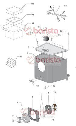 Εικόνα της Gaggia New Baby Class Spare Parts Key Switch Coffee Sil.p8401c (See Image Item 2)