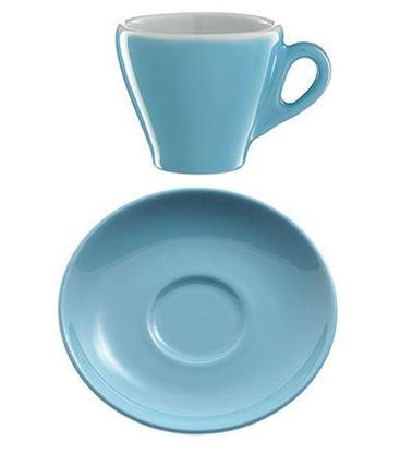Εικόνα της Πορσελάνινο Πιατάκι Γαλάζιο χρώμα για κούπα espresso