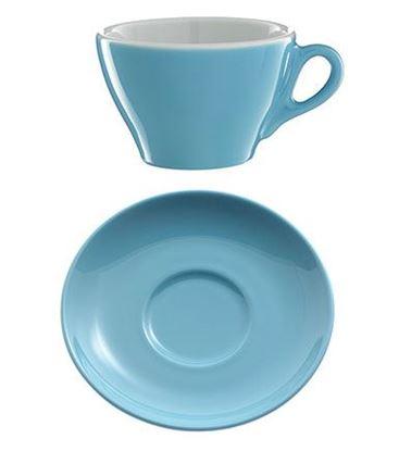 Εικόνα της Πορσελάνινο Πιατάκι Γαλάζιο χρώμα για κούπα cappuccino