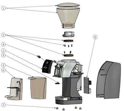 Εικόνα της Power PCB 100-120V for Baratza-Vario (JET) (see image item 8)