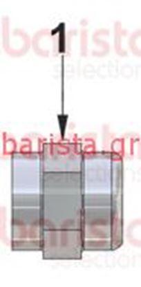 Εικόνα της Vibiemme Lollo Taps - Παξιμαδωτή κεφαλή βάνας ατμού (νο. 1)