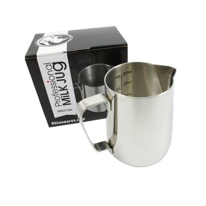 Picture of Rhino Barista Etched Milk Jug 12oz/360ml