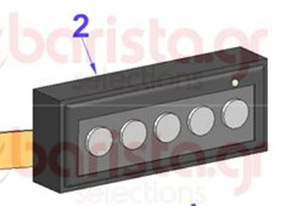 Picture of Vibiemme Domobar Super Electronic - Push-Button Panel - 1 Leed Chromed Buttons