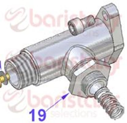Picture of Vibiemme Replica 2 Group 2 Boiler Pid Steam Tap 3/8 Chromed Nut