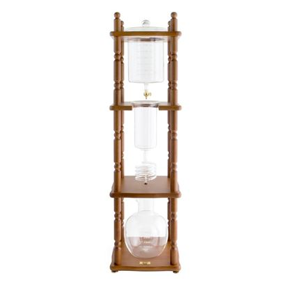Picture of 25 Cup Cold Drip Maker Curved Brown Wood Frame