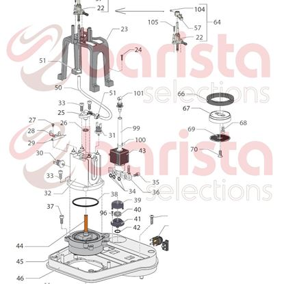 Picture of Gaggia New Baby Spare Parts Cock Assembly (see Image Item 22)