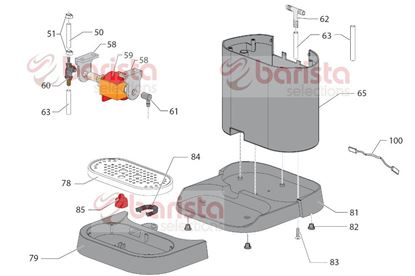 Picture of Gaggia New Baby Class Spare Parts Red Float For Drip Tray P117 (See Image Item 85)