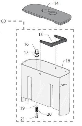 Εικόνα της Gaggia New Baby Spare Parts Grey Water Valve Container Piston (see Image Item 21)