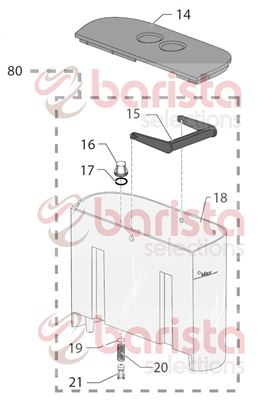 Picture of Gaggia New Baby Class Spare Parts Grey Water Valve Container Piston (See Image Item 21)