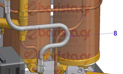 Picture of Vibiemme Domobar Super Waterworks - CM.32 Inox Flexible Tube