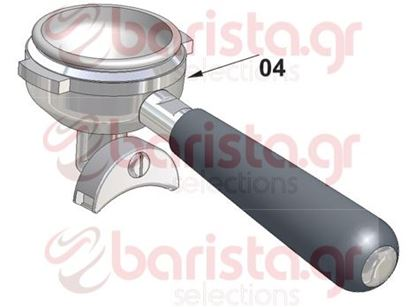 Picture of Vibiemme Replica 2 Group 2 Boiler Pid Filter Holder Assembly High Filterholder - 2 Cups
