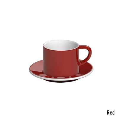loveramics bond 150ml cappucino cup and saucer red