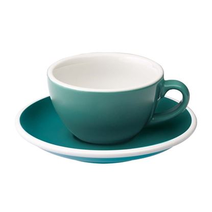 Loveramics Egg - Flat White 150 ml Cup and Saucer - Teal