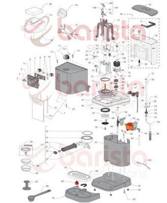 Picture of Gaggia New Baby FILTER HOLDER CUP (see image item 73)