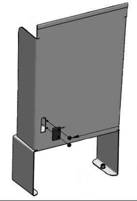 Water tank guide rail