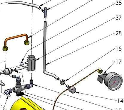 ECM Drain nozzle