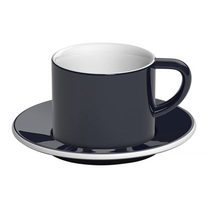 Loveramics Bond - 150 ml Cappuccino cup and saucer - Denim