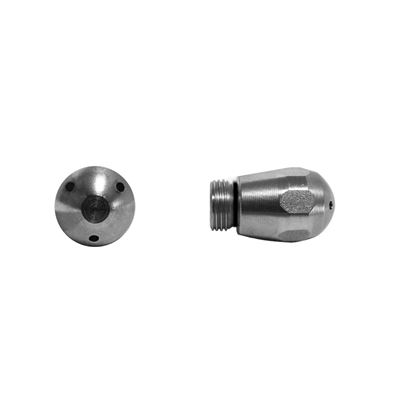 S. STEEL STEAM STEM EXAGONAL 3 HOLES D.1,5MM T10 WITH O-RING