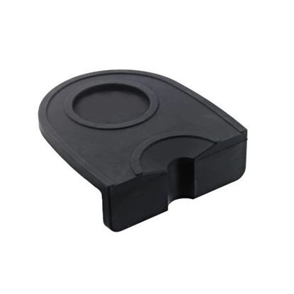 Tamping mat single black silicone
