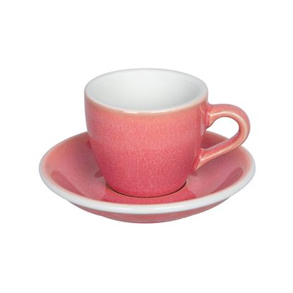 Loveramics Egg - Espresso 80ml Cup and Saucer - Berry color