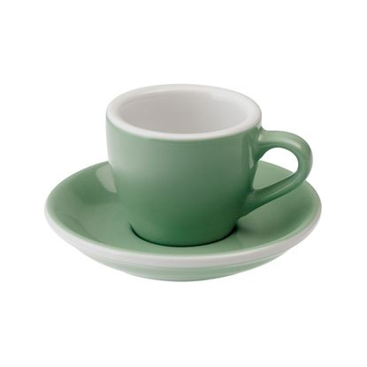 Loveramics Egg - Espresso 80ml Cup and Saucer - Mint color